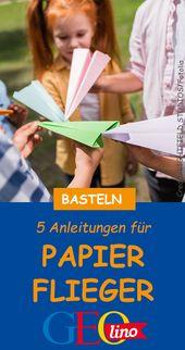 Papierflieger basteln 2