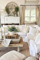 Wonderful Rug Living Room Farmhouse Decor Ideas 19 #Decor #Farmhouse #Ideas #Living #Room #R…