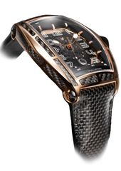 Cvstos Challenge Jet-Liner Carbon Men's Watch, Bicolor Red Gold 5N with Black Carbon Black Movement – Nitril Strap Watch