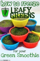 So frieren Sie Spinat für Ihren grünen Smoothie ein   – Healthy…