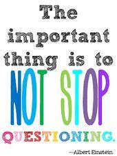 Wichtig ist, dass man nicht aufhört zu hinterfragen – Albert Einsteins …