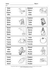 Erste Worter Lernzielkontrolle 3 Pdf Lernen Grundschulmaterial