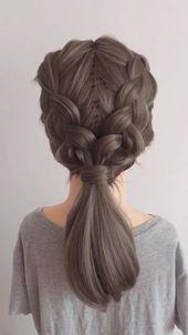 5 Coole Zöpfe Frisuren für mittlere Haare Frisuren für dünnes Haar | Frisure…