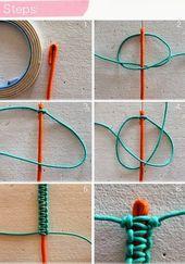 Account locked – DIY bracelet made of cord and jewels # bracelet # jewels # line ā …