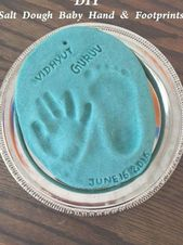 DIY Salt Dough Baby Handprint & Footprint Keepsake…