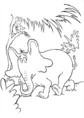 Dr Seuss Horton Hears A Who Coloring Pages Bulk Color Dr Seuss Coloring Pages Coloring Pages Cartoon Coloring Pages