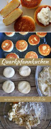 Quark pancakes without flour – simple & quick recipe