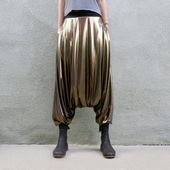 Goldene Pluderhosen, Glorka, Spandex-Pluderhosen für Herren und Damen, Thai-Hosen, Goldene Hosen, Sarouel Homme, Drop Crotch, Burning Man-Kostüm   – Products