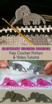 Elefantenbordüre [Free Crochet Pattern and Video Tutorial] Suivez nous pour …   – DIY Spielzeug