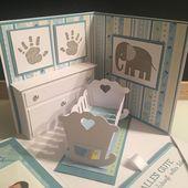 Baby Cards Explosionsbox zur Taufe/ Christening Explosion Box (10/2019) | tatjanakreativ