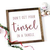Photo of Holen Sie sich nicht Ihre Lametta in ein Gewirr Lustiges Weihnachtszeichen | Fun Weihnachten …