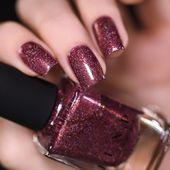 Bloodline – Rich Marsala Holographic Nail Polish by ILNP – I MUST HAZ