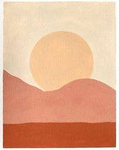 peinture simple du coucher de soleil avec des tons chauds  #chauds #coucher #peinture #simple…