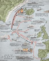 Sinking the Bismarck – Map of the final voyage of the Bismarck | Army Histo…