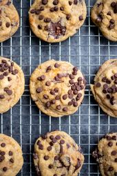 Chewy Vegan Peanut Butter Cup Cookies