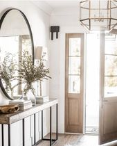 """Studio McGee on Instagram: """"Layered neutrals, the sunshine pouring in, and a jar filled with fresh olive branches…if there was ever an entry that spoke to me, this…"""" – Home."""