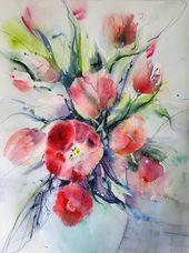 Tulpen Blumen strauss – Kunst Angebot – Bilder Shop – Etsy