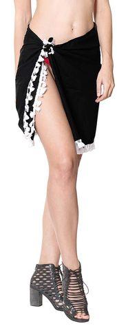 Swimsuit Cover-Up Sarong Beach Wrap Skirt Hawaiian Sarongs for Women Plus Size Short Half Mini G