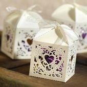 Decorative Die Cut Wedding Favor Boxes (Pack of 25)