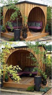 Atemberaubende 16 erstaunliche clevere Möglichkeiten, Ihren Garten mit Paletten zu