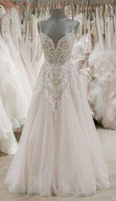 Strap V-neck wedding dresses backless ivory tulle wedding dress WD309