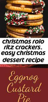 Christmas rolo ritz crackers. easy christmas dessert recipe with chocolate and caramel. #christmas 5