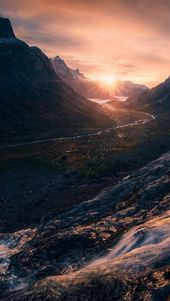 Red-Mountain-Sunrise-Wallpaper-iPhone-Wallpaper – iPhone Wallpapers