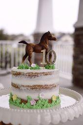 Pastel de cumpleaños con temática Breyer Horse. #breyerhorse #breyerhorsebirthday #breyerhors …   – Cakes