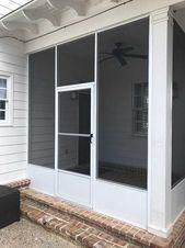Install Screened In Porch Memphis Tn Maclin Security Doors Screened In Porch Outdoor Screen Room Modern Patio
