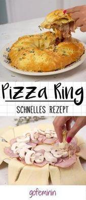 So machen Sie schnell einen köstlichen Pizzaring für Ihre Party!