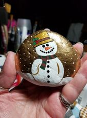 Painting Rocks Christmas 63 Ideas For 2019