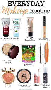 Natürliche tägliche Make-up-Routine –   #