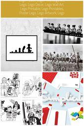 Lego Poster, Kinder Geschenk, Lego Art, Lego Print, Lego Dekor, Lego Artwork, Lego Kind …   – legos