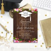 Graduation High School Printable Template, 2019 Forestry Graduation, College Graduation Invitation, Graduation Party Invite INSTANT DOWNLOAD