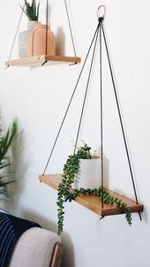 Hanging Shelves / Set of 2 Large Shelves / Floating Shelves / Swing Shelves – moving out❣️