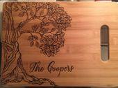 Custom Wood burning Cutting Board, pyrography of t…