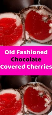 Old Fashioned Chocolate Covered Cherries Ingredients 60 Maraschino cherries with…
