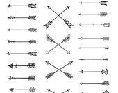 Flèches Boho. 17 Clipart dessiné à la fundamental. Tribal, éléments de bricolage indigènes, brand, invitation, crayon, clear, numérique png, fashion, tatouage, romantique