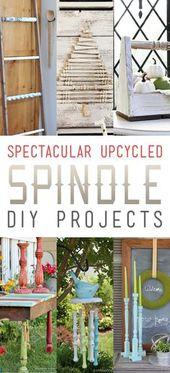 Spektakuläre Upcycled Spindle DIY-Projekte – Der Cottage-Markt Spektakuläre Upcy …