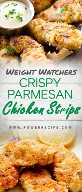 These Crispy Parmesan Baked Chicken Strips are perfect for any occasion and my p…