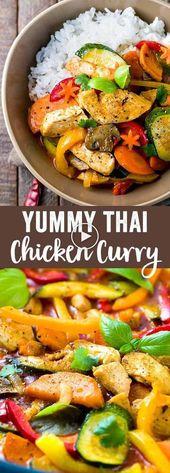 Thaise Kip Curry Met Kokosmelk