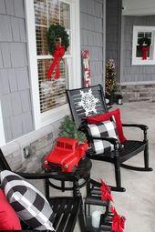 76 Cheap DIY Christmas Porch Ideas