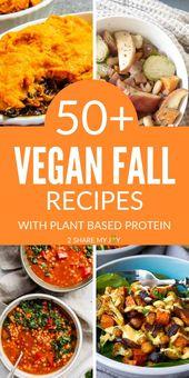 50+ recettes de souper d'automne végétalien à base de protéines végétales