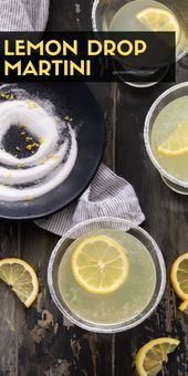 Nothing says party like fun cocktails! Light and refreshing, this Lemon Drop Mar…
