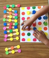 Color dots connect logic game