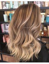 Cheveux longs blonds # coiffures # coiffures # idées # idées #frisuren, #blond …