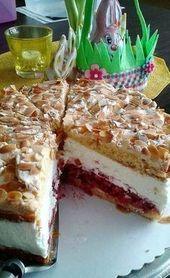 Sky cake with raspberries  – Sweet cake