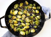 These Parmesan Roasted Brussel Sprouts are the perfect compliment to any meal, a…   – Yummy