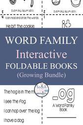 Word Family Activities Kindergartenbücher – Kindergarten Word Family Activities