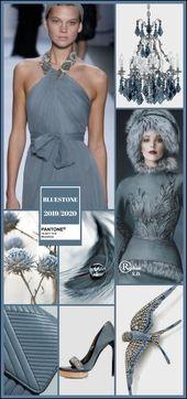 '' Bluestone'' Pantone - Autumn/ Winter 2019/ 2020 Color- by Reyhan S.D.